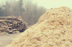 Sawmill waste collection in Staffordshire
