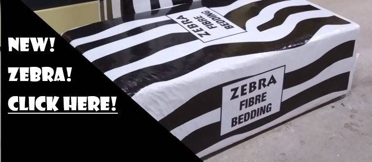 Zebra Fibre Animal Bedding