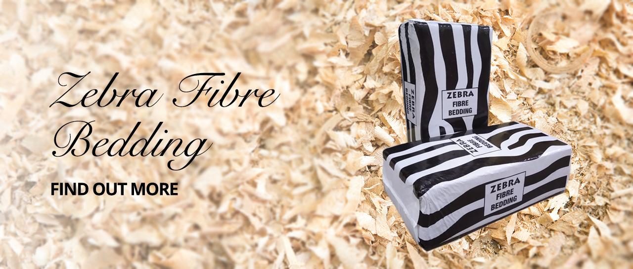 Zebra Fibre Animal Bedding